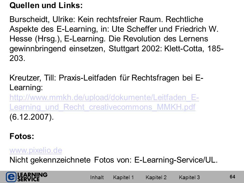Kreutzer, Till: Praxis-Leitfaden für Rechtsfragen bei E-Learning: