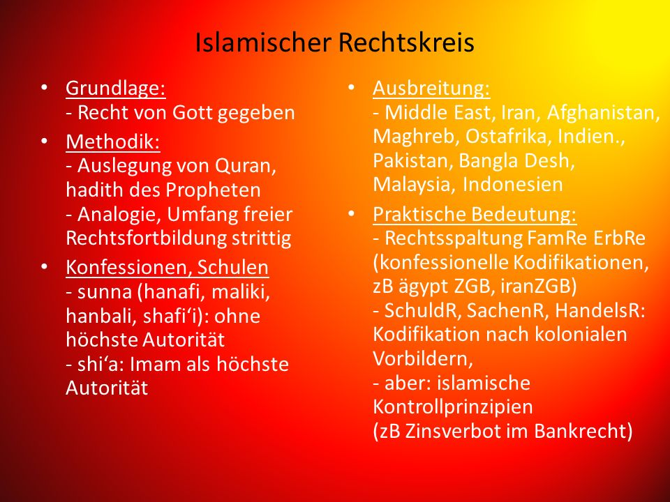 Islamischer Rechtskreis