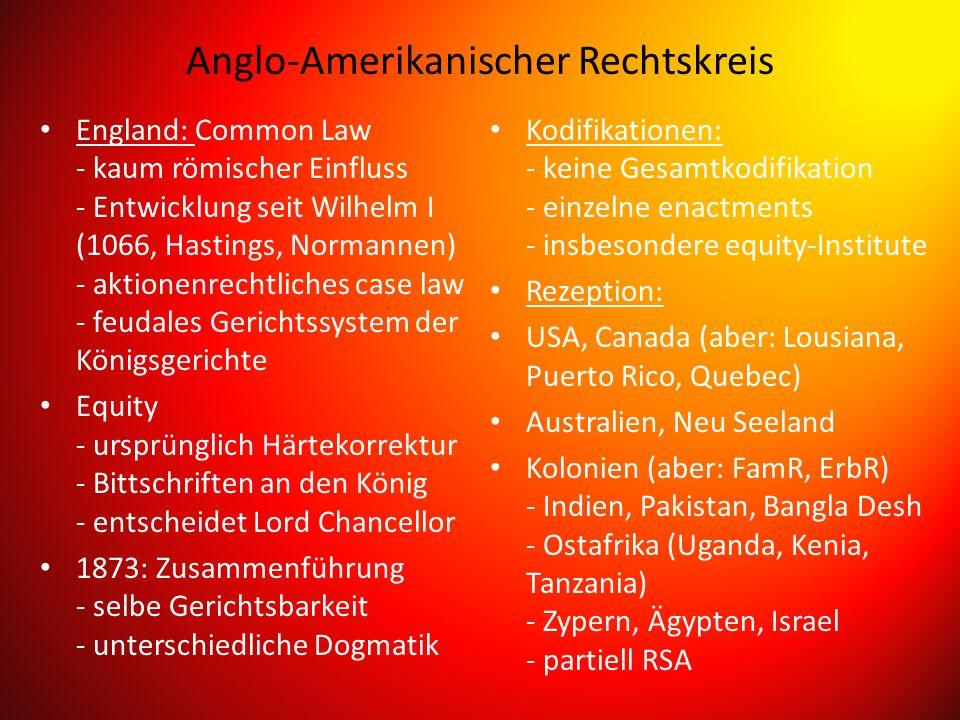 Anglo-Amerikanischer Rechtskreis