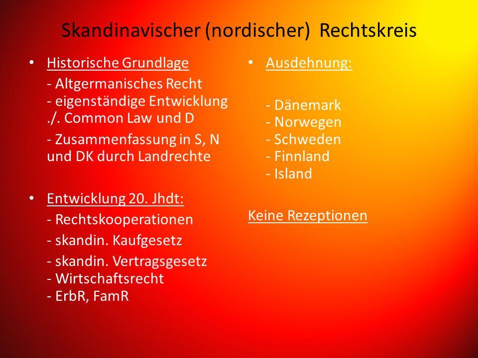 Skandinavischer (nordischer) Rechtskreis