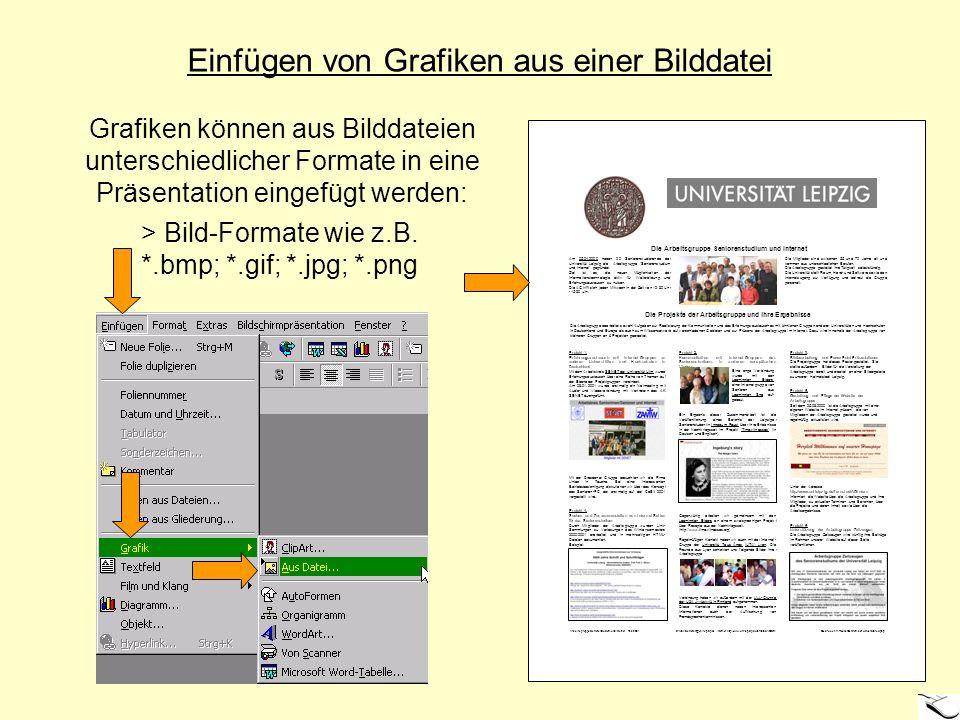 Einfügen von Grafiken aus einer Bilddatei