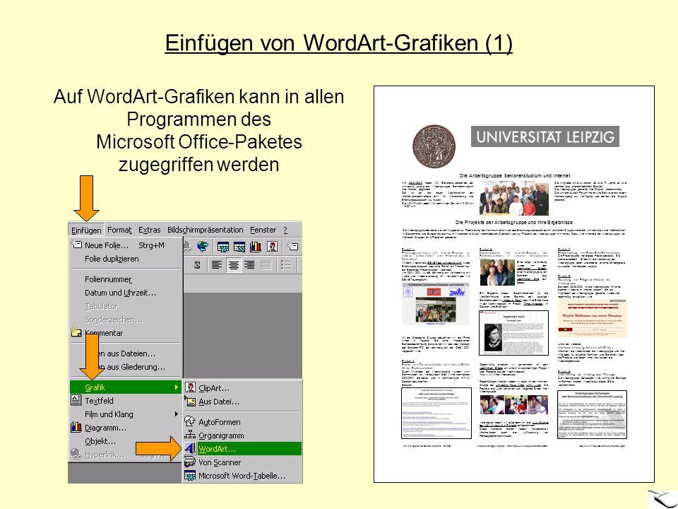 Einfügen von WordArt-Grafiken (1)