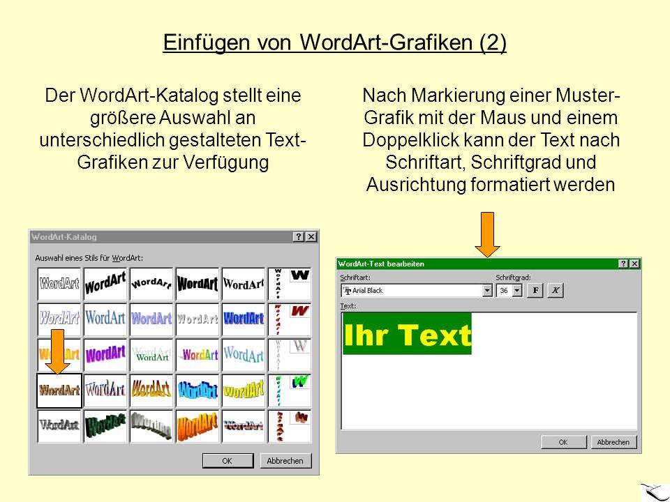 Einfügen von WordArt-Grafiken (2)