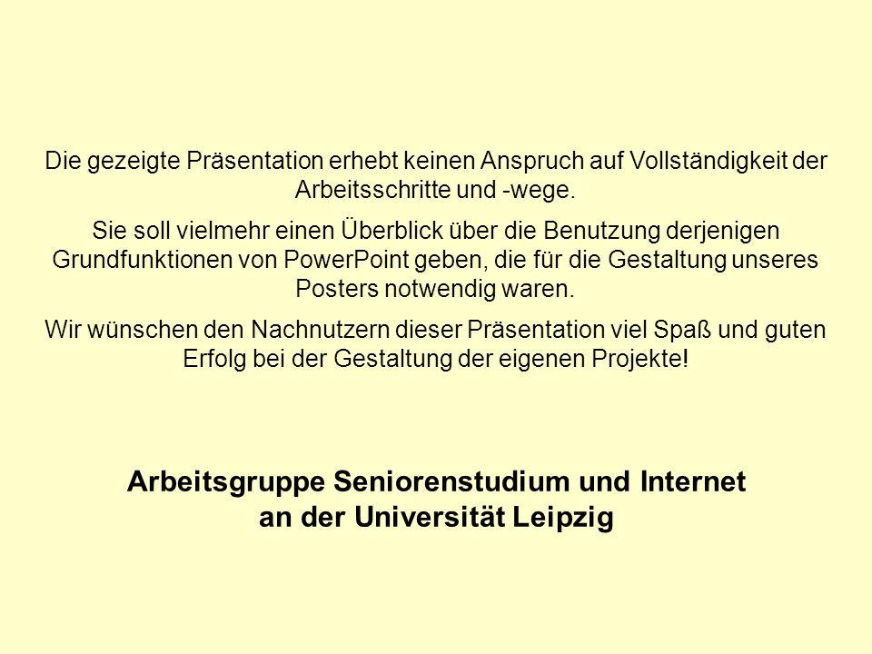Arbeitsgruppe Seniorenstudium und Internet an der Universität Leipzig