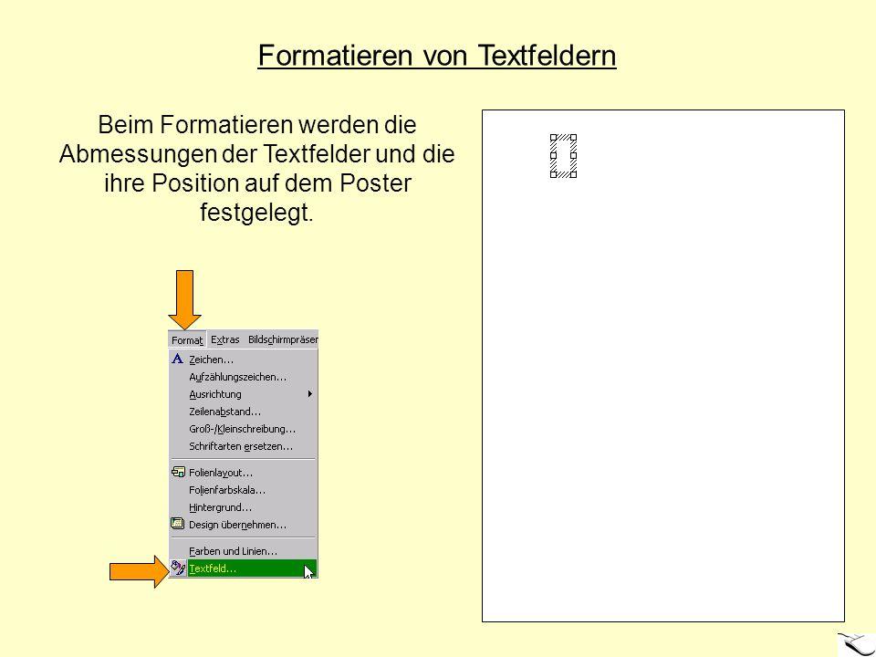Formatieren von Textfeldern