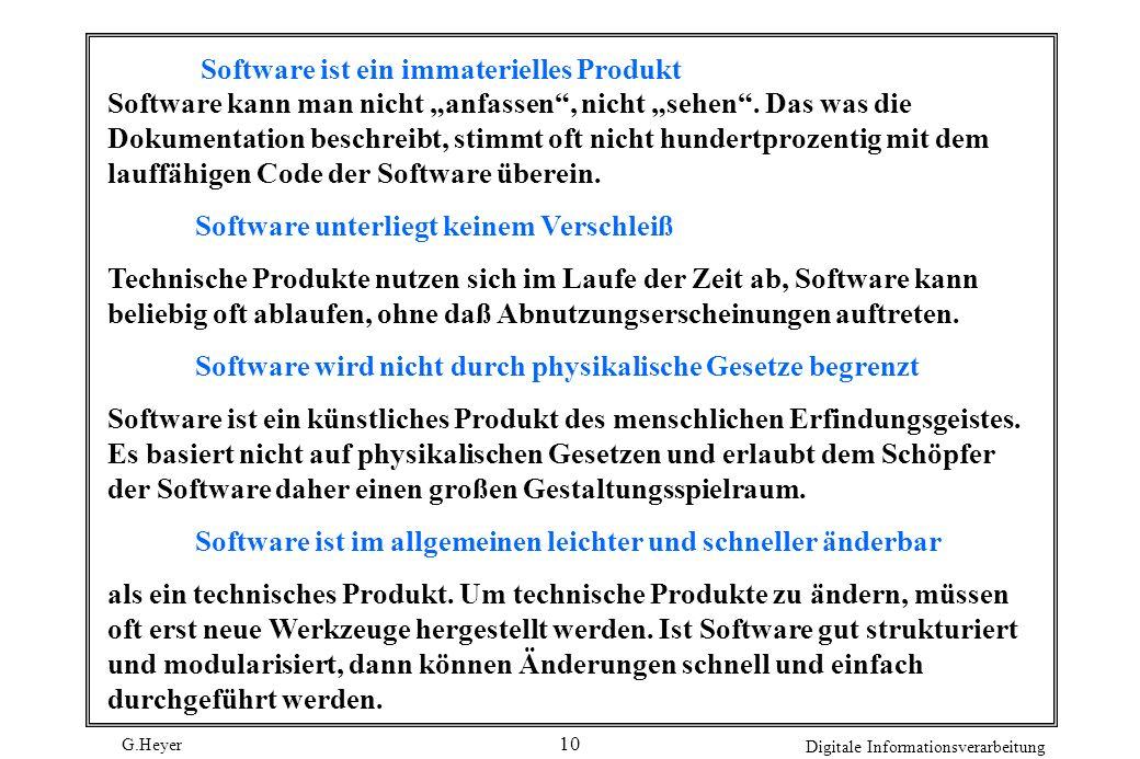 Software ist ein immaterielles Produkt