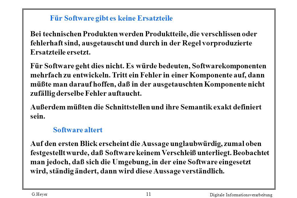 Für Software gibt es keine Ersatzteile