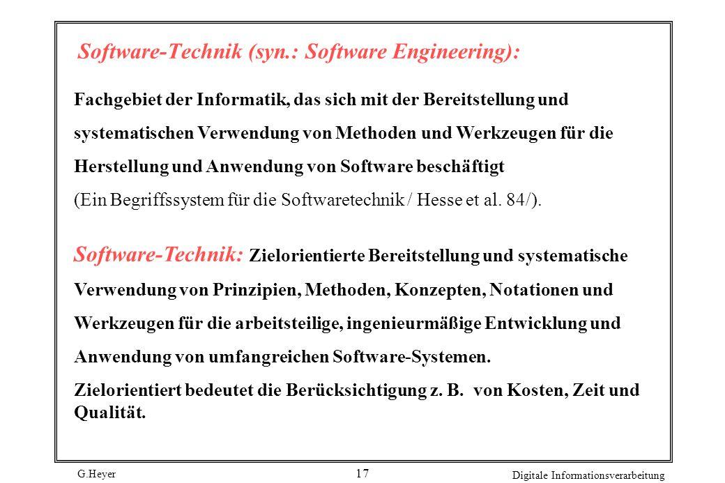 Software-Technik (syn.: Software Engineering):