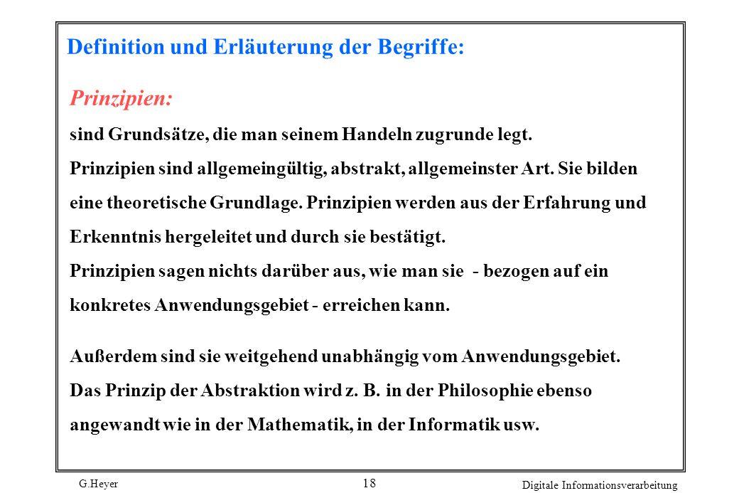 Definition und Erläuterung der Begriffe: