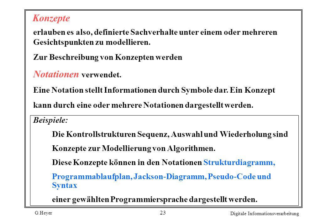 Konzepte Notationen verwendet.