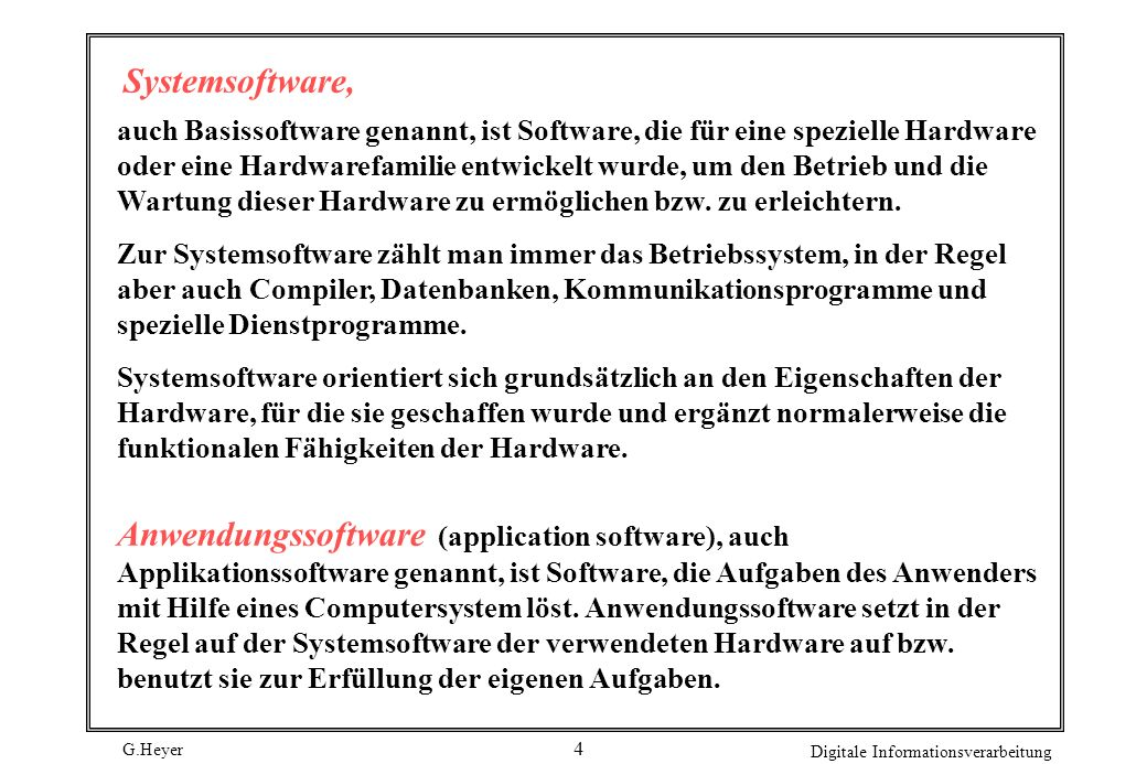 Systemsoftware,