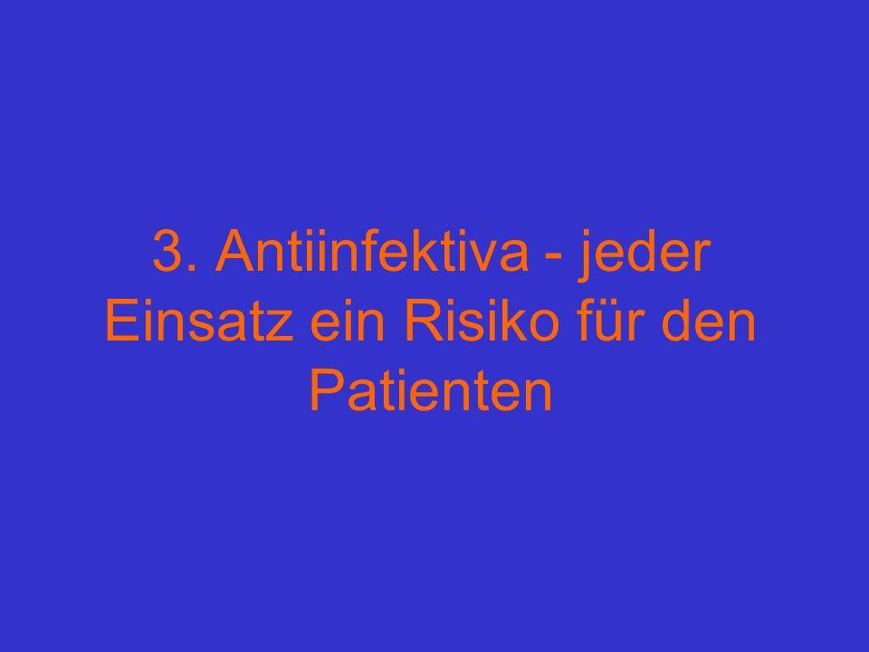 3. Antiinfektiva - jeder Einsatz ein Risiko für den Patienten