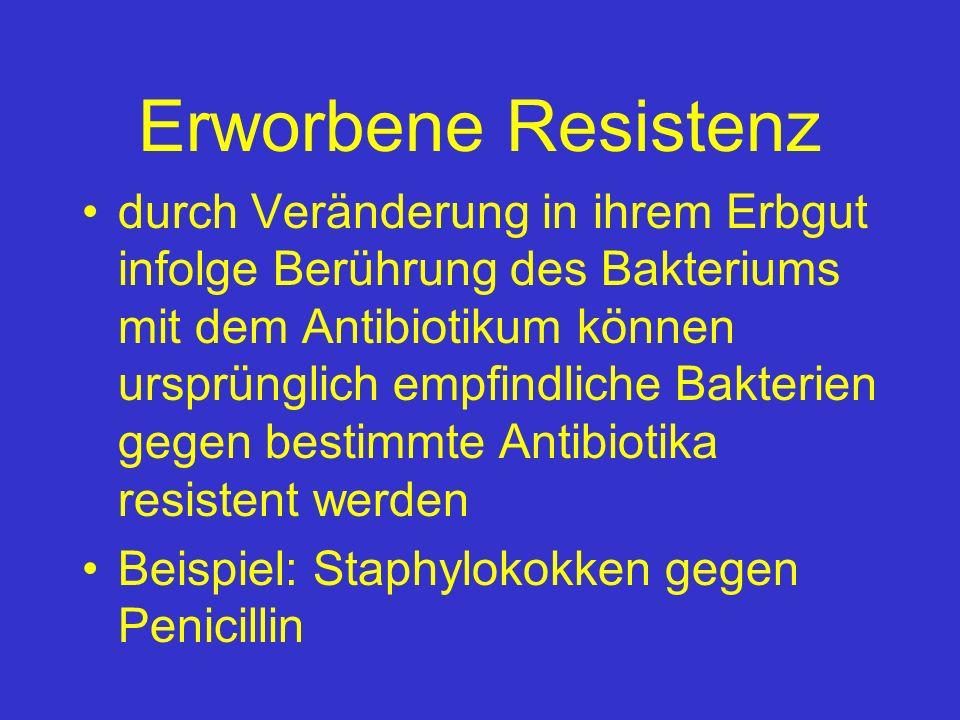Erworbene Resistenz