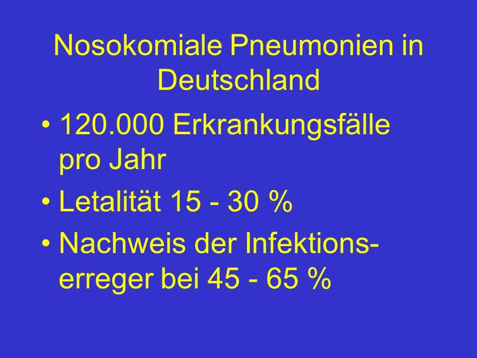 Nosokomiale Pneumonien in Deutschland