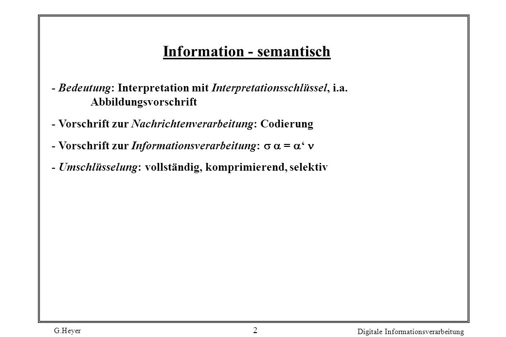 Information - semantisch
