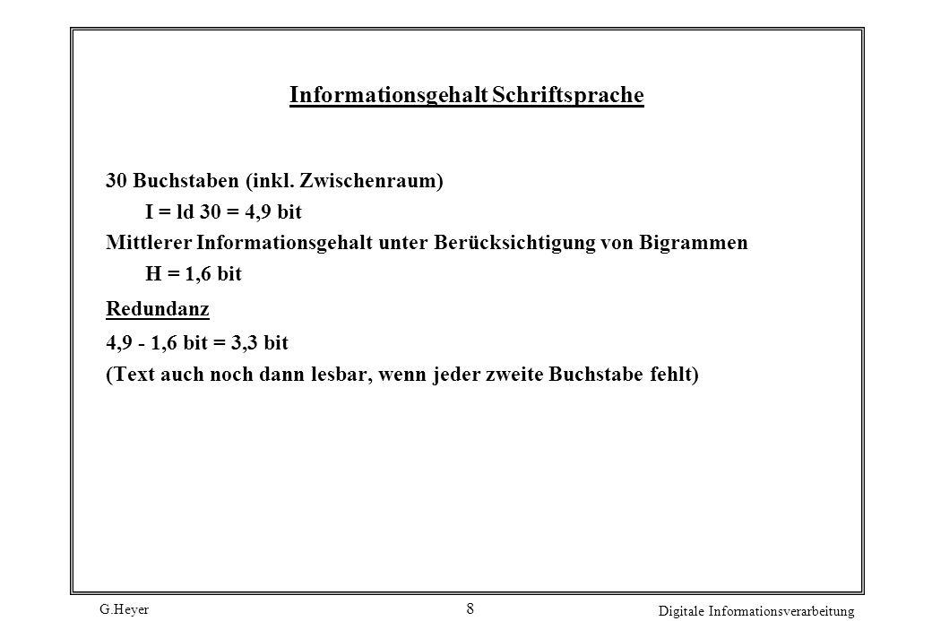 Informationsgehalt Schriftsprache