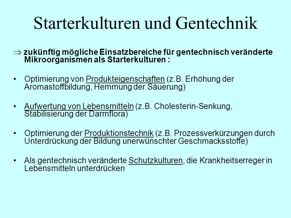 Starterkulturen und Gentechnik