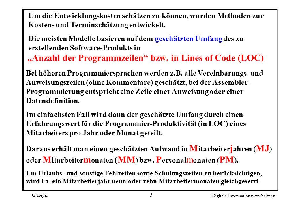 """""""Anzahl der Programmzeilen bzw. in Lines of Code (LOC)"""