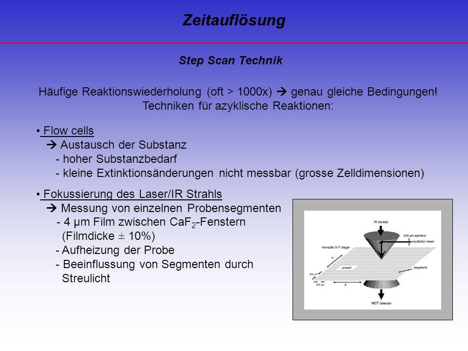 Zeitauflösung Step Scan Technik