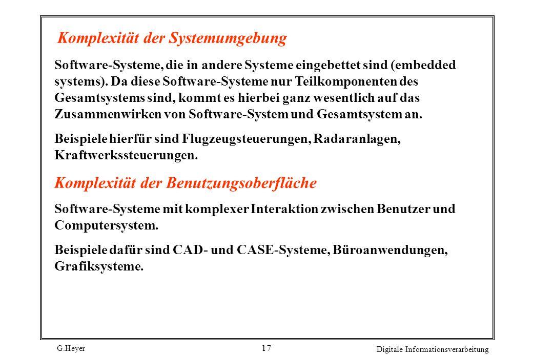Komplexität der Systemumgebung