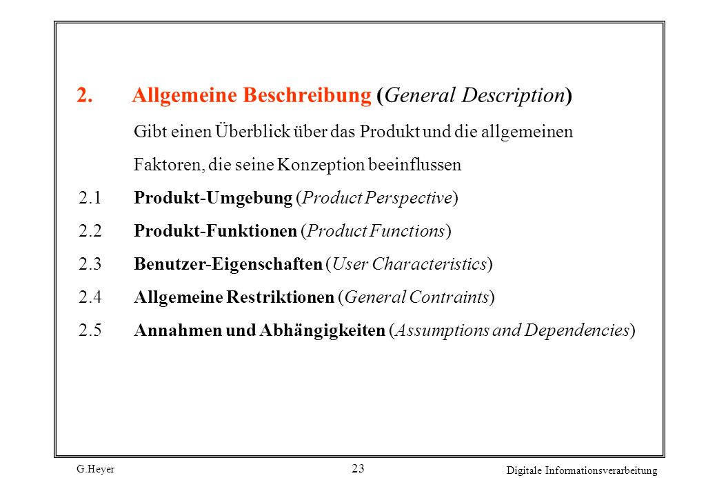 2. Allgemeine Beschreibung (General Description)