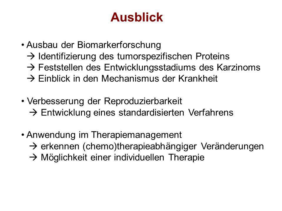 Ausblick Ausbau der Biomarkerforschung