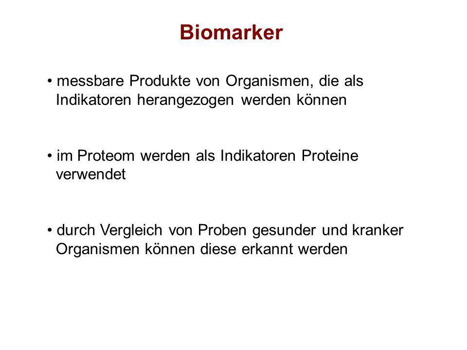 Biomarker messbare Produkte von Organismen, die als