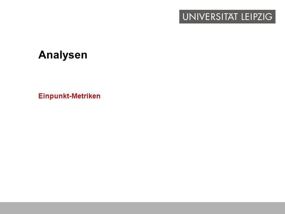 Analysen Einpunkt-Metriken