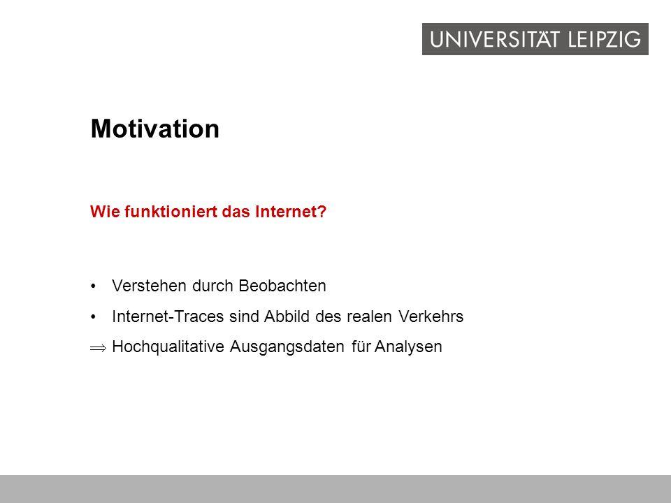 Motivation Wie funktioniert das Internet Verstehen durch Beobachten