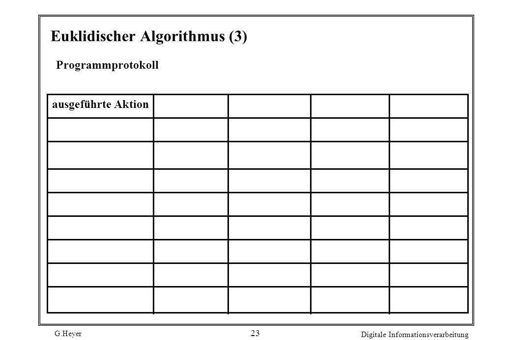 Euklidischer Algorithmus (3)