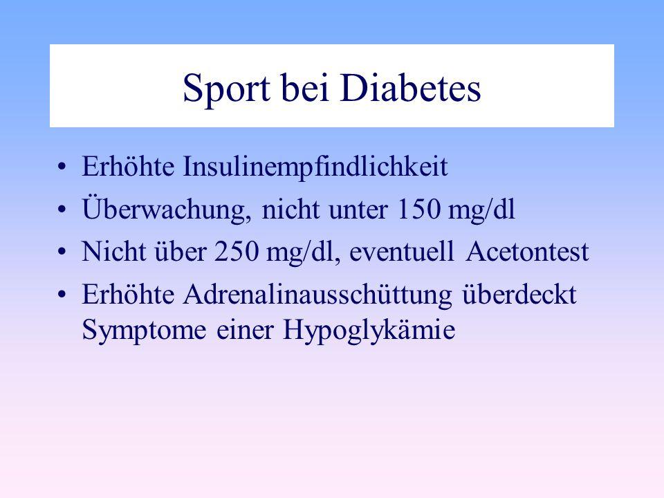 Sport bei Diabetes Erhöhte Insulinempfindlichkeit