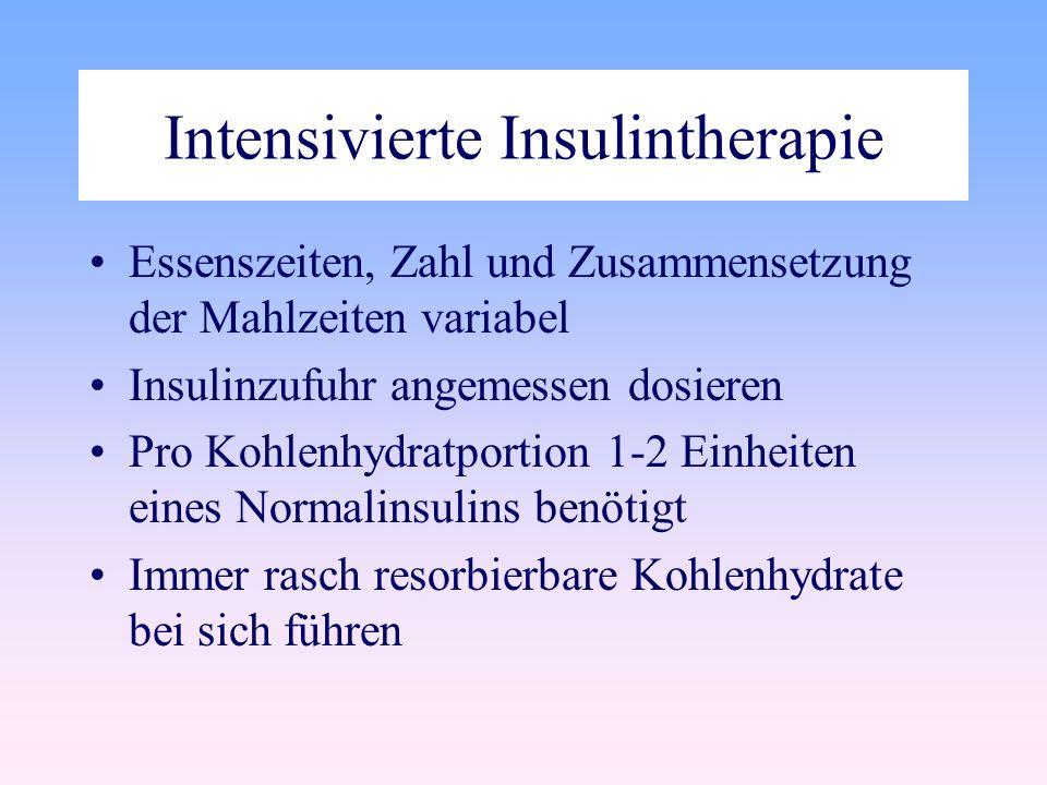 Intensivierte Insulintherapie