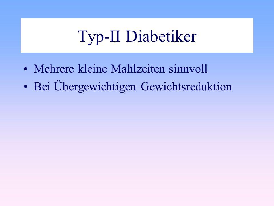 Typ-II Diabetiker Mehrere kleine Mahlzeiten sinnvoll