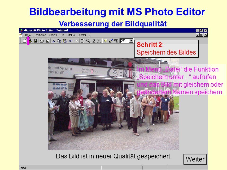 Verbesserung der Bildqualität