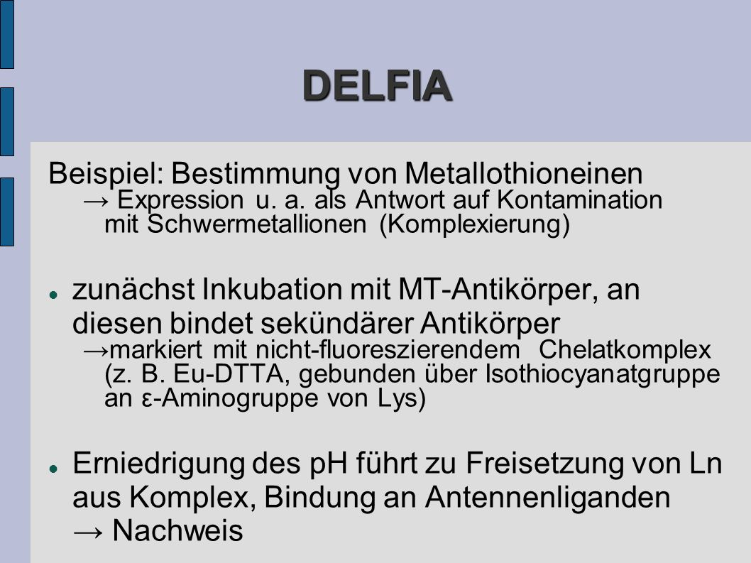 DELFIA Beispiel: Bestimmung von Metallothioneinen