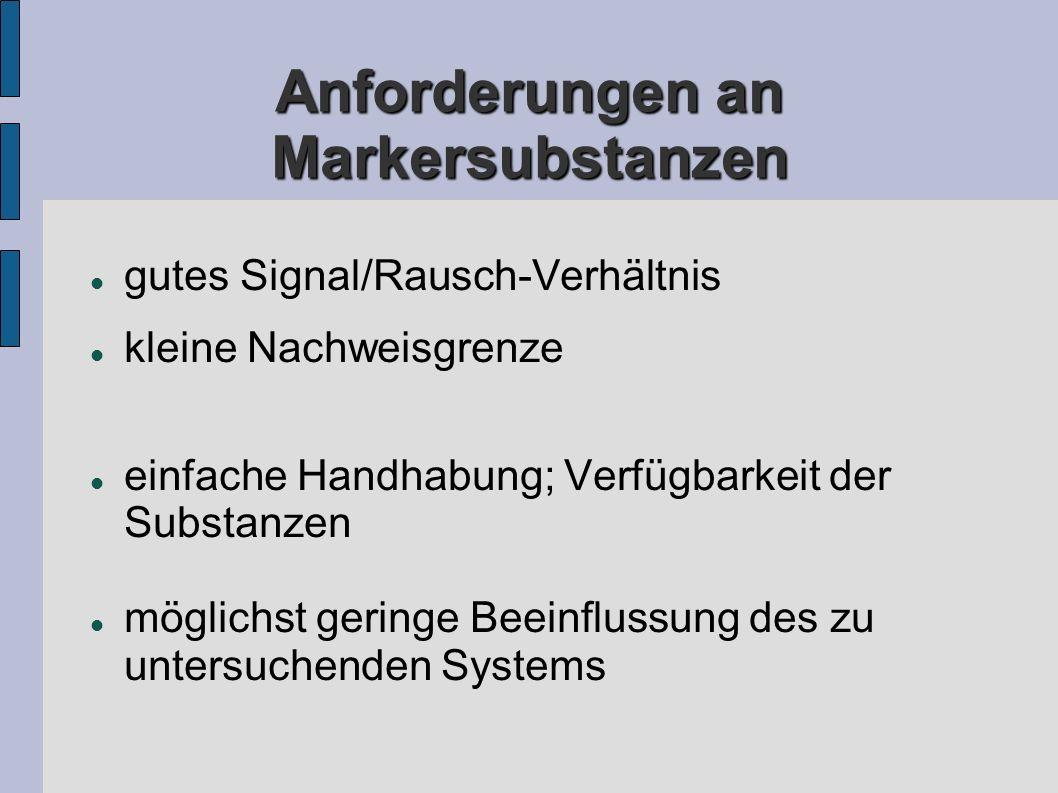 Anforderungen an Markersubstanzen