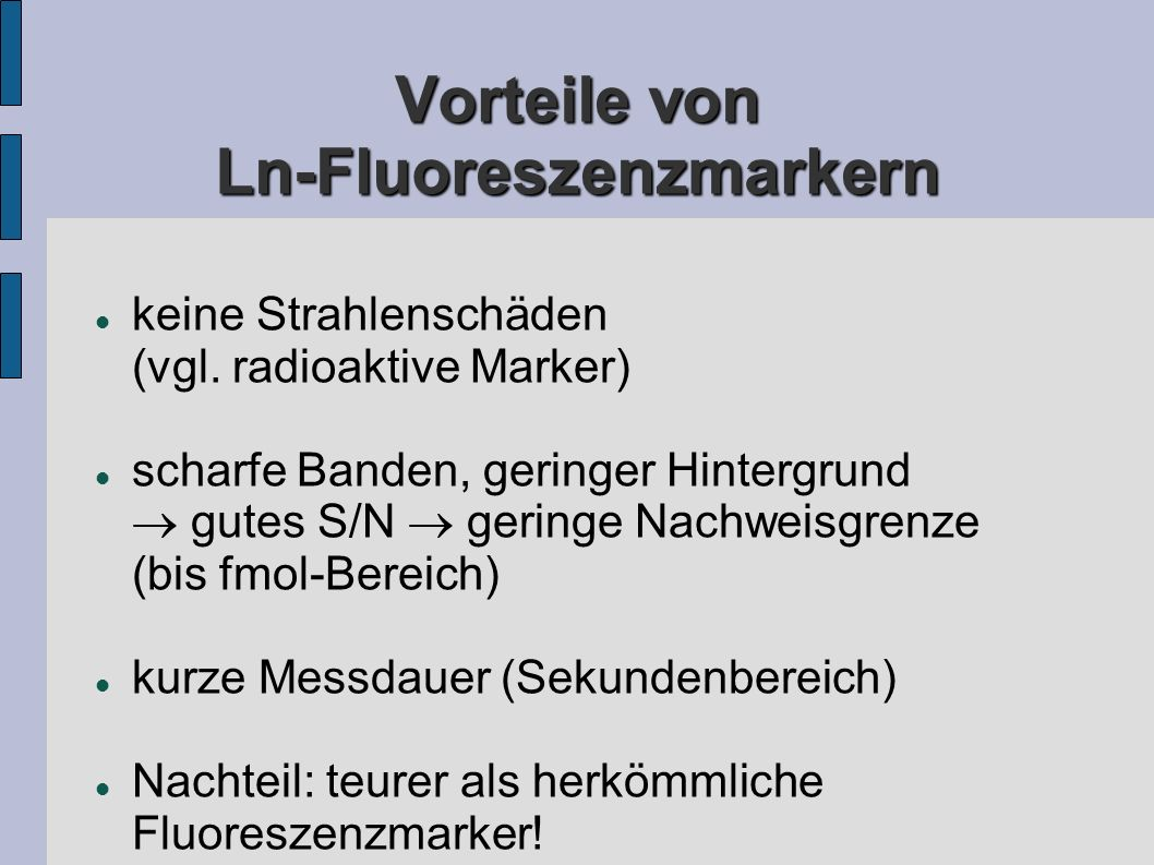 Vorteile von Ln-Fluoreszenzmarkern