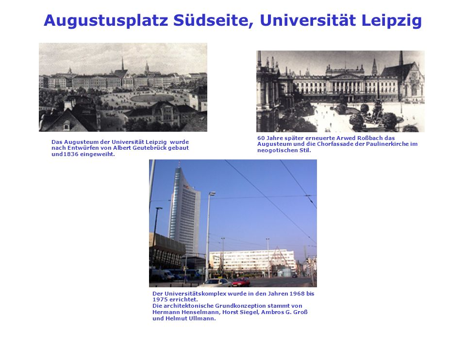 Augustusplatz Südseite, Universität Leipzig