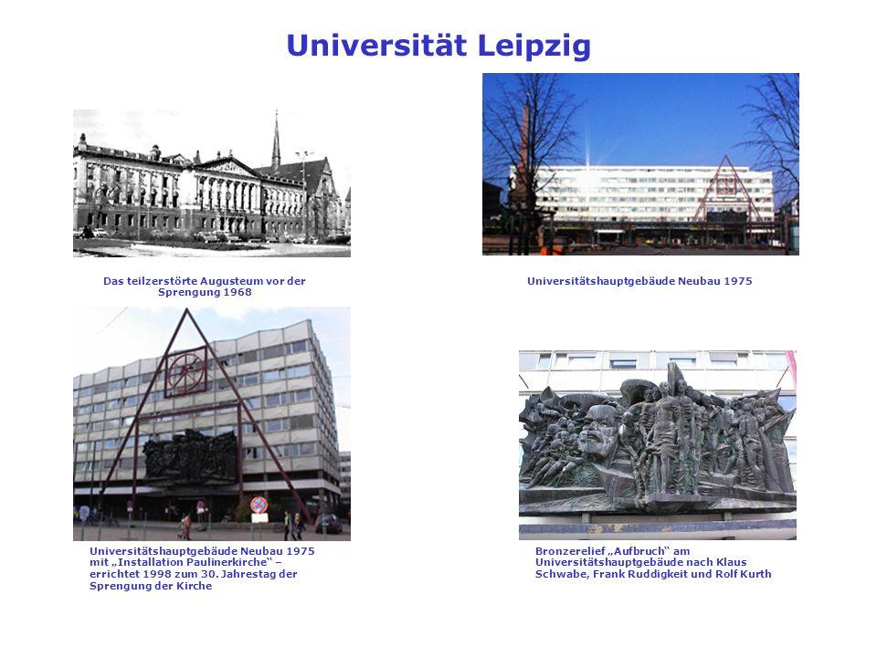 Universität Leipzig Das teilzerstörte Augusteum vor der Sprengung 1968
