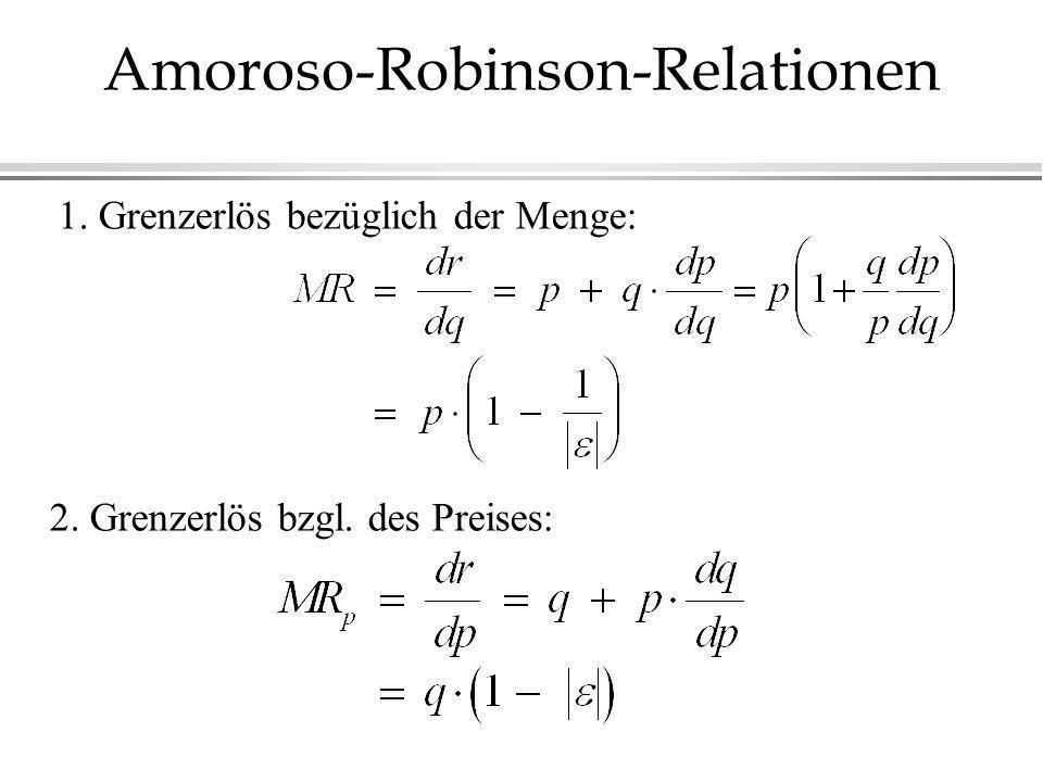 Amoroso-Robinson-Relationen