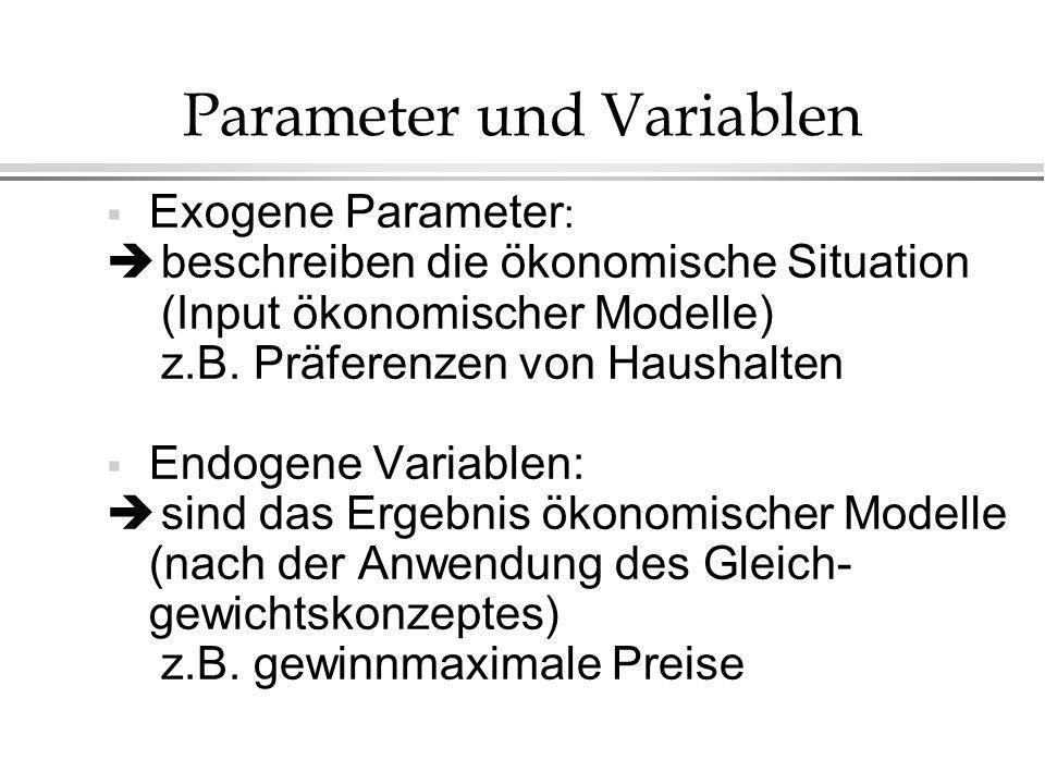 Parameter und Variablen