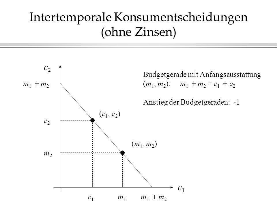 Intertemporale Konsumentscheidungen (ohne Zinsen)