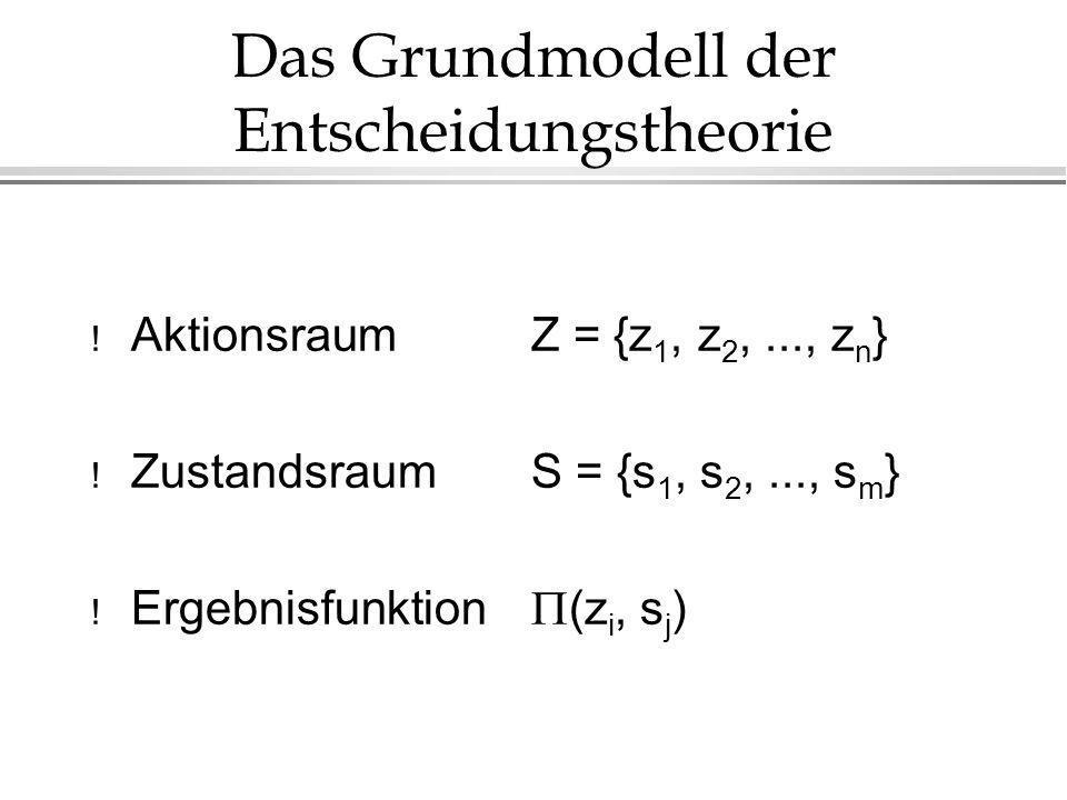 Das Grundmodell der Entscheidungstheorie