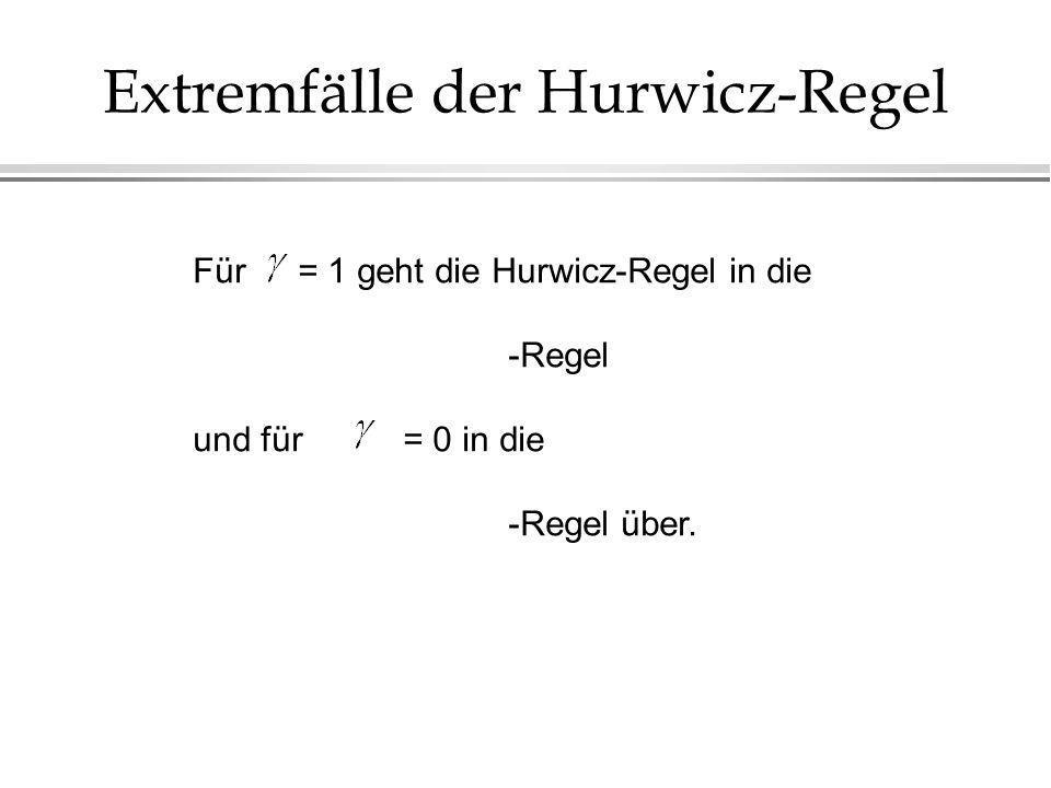 Extremfälle der Hurwicz-Regel