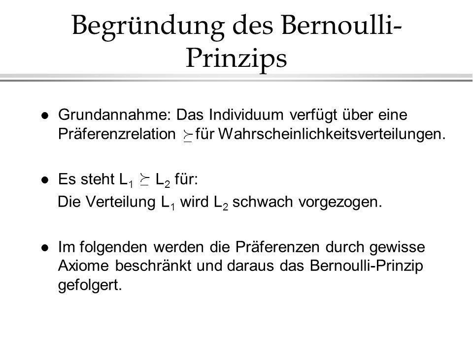 Begründung des Bernoulli-Prinzips