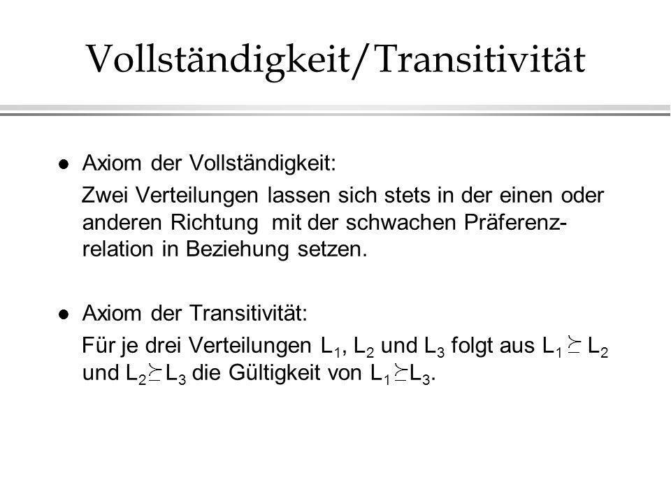 Vollständigkeit/Transitivität