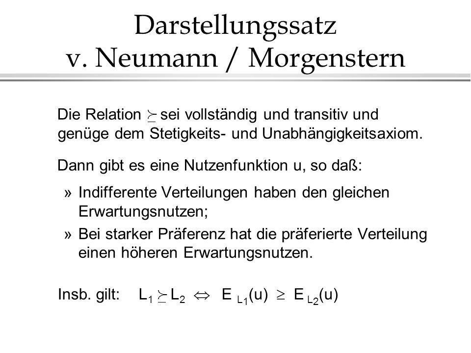 Darstellungssatz v. Neumann / Morgenstern