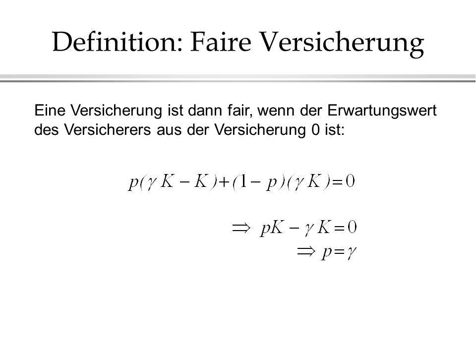 Definition: Faire Versicherung