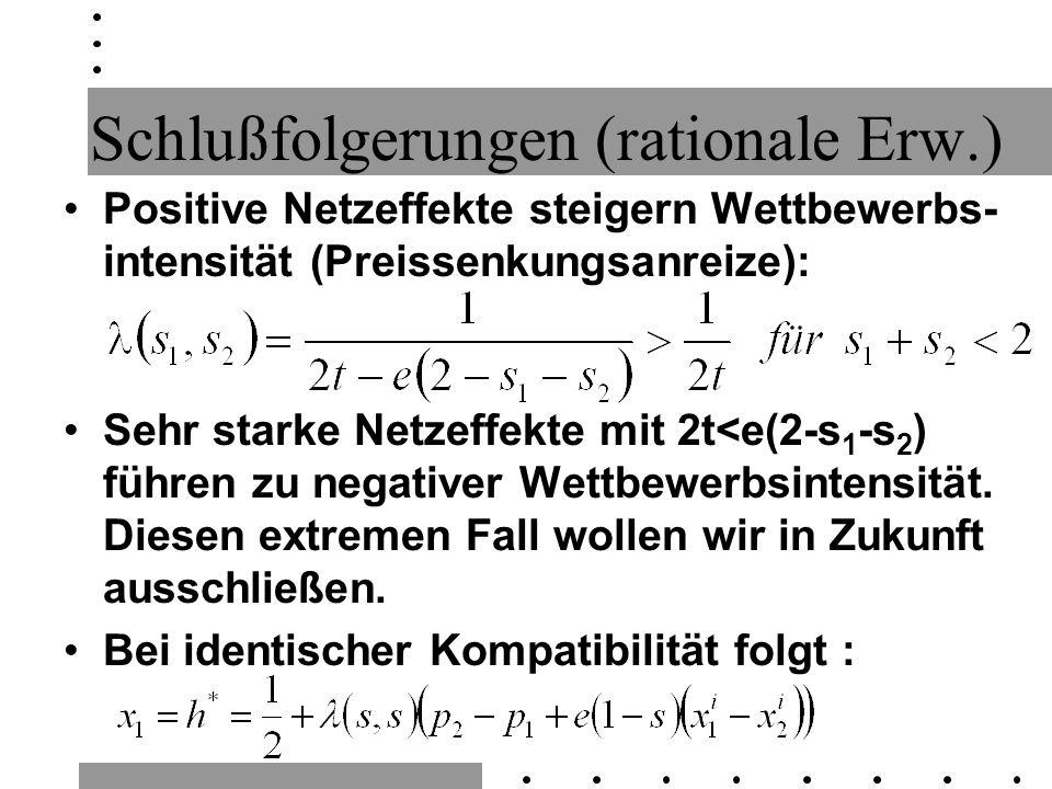 Schlußfolgerungen (rationale Erw.)