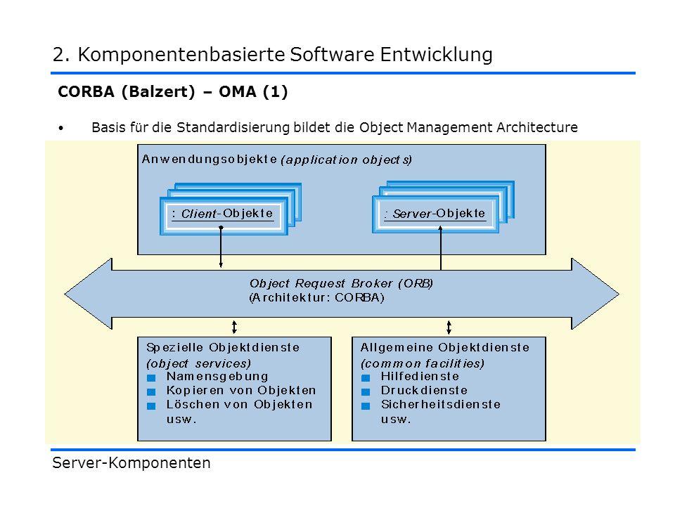 2. Komponentenbasierte Software Entwicklung